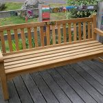 Arlanza 1800 Teak bench with Brass Plaque